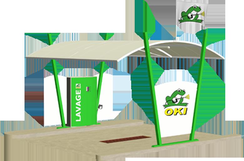 Oki clean fabricant de stations de lavage en libre - Station lavage karcher ...
